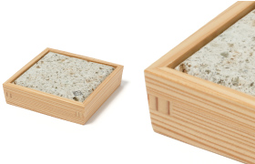 Nikko Cedar Plate L with Oya Stone Plate 3sun