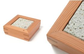 Nikko Cedar Frame and Oya Stone Plate 3sun 1plate